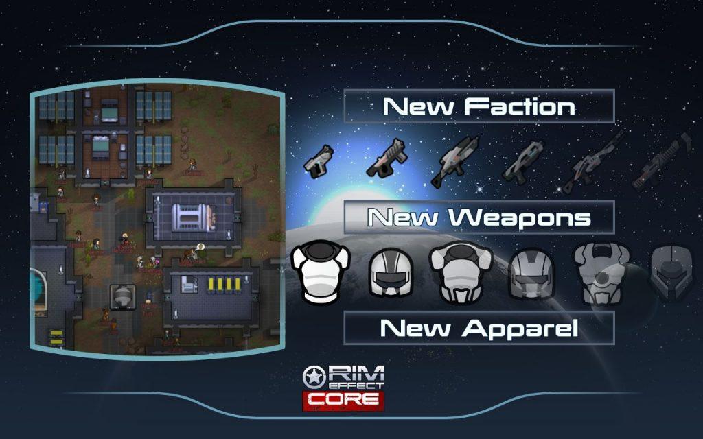 Новая серия модов добавляет элементы Mass Effect в RimWorld