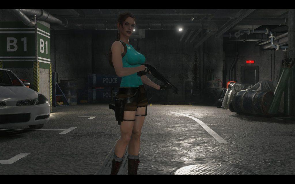 Мод переносит классическую Лару Крофт в Resident Evil 2
