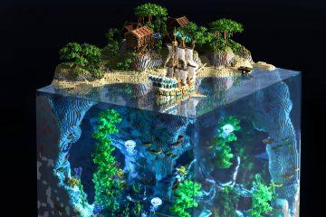 Невероятный кусочек красоты из Майнкрафта, выстроенный внутри блока